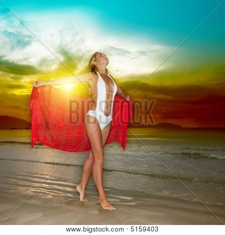 Puesta de sol mujer