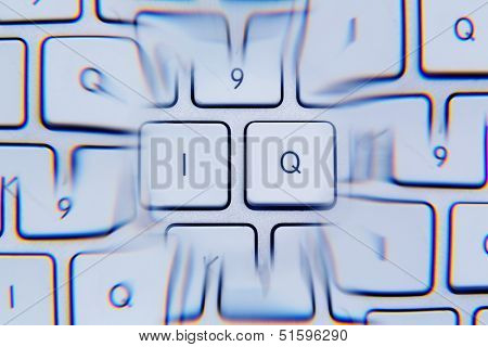 """the letters """"iq"""" as a symbol photo for intelligence quotient."""