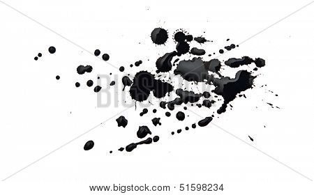 black blot isolated on white