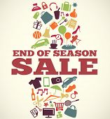 stock photo of year end sale  - Sale design with icons and symbols - JPG