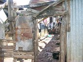 stock photo of unbelievable  - The unbelievable housing slums in Uganda Africa - JPG