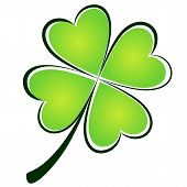 stock photo of ireland  - Clover picture icon on a white background - JPG