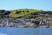stock photo of dartmouth  - Dartmouth on the river Dart in Devon - JPG