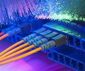 image of cisco  - Technology center with fiber optic equipment - JPG