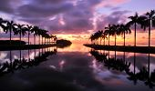 image of florida-orange  - Sunrise over Cutler Bay near Miami - JPG