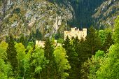 The castle of Hohenschwangau in Bavaria, Germany.