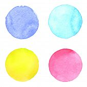 picture of aquamarine  - Watercolor circles collection - JPG