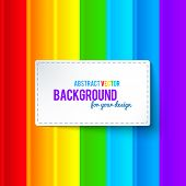 pic of neon green  - Bright colorful rainbow stripes vector background with label - JPG