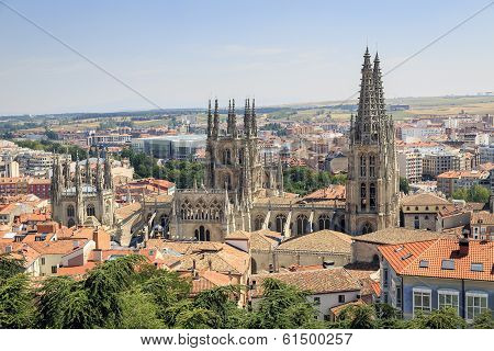 City Of Burgos And The Cathedral