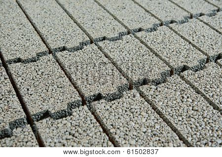 heap of clayite brick background