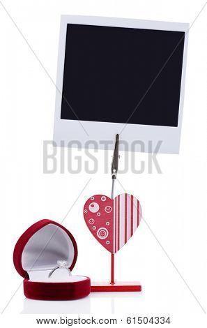 Photo holder isolated on white
