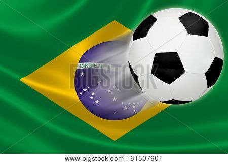 World Cup 2014: Soccer Ball Flying Out Of Brazilian Flag