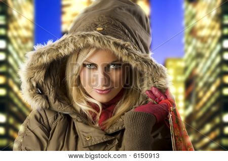 Girl And Cold Winter