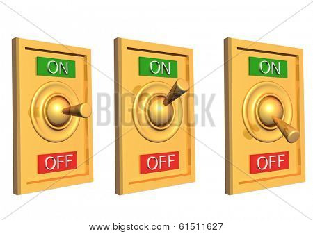 3d switch. Objects isolated on white background