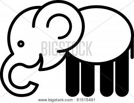 Cute animal elephant - illustration