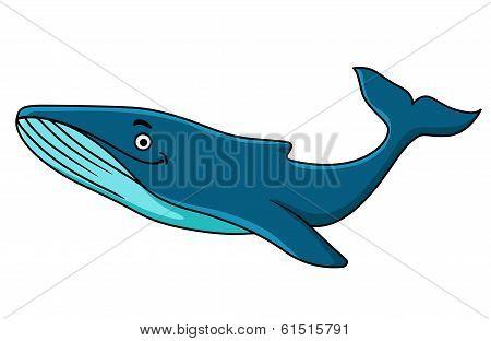 Large blue whale mascot