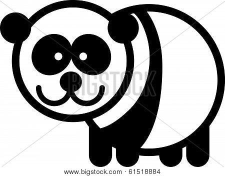 Cute animal panda - illustration