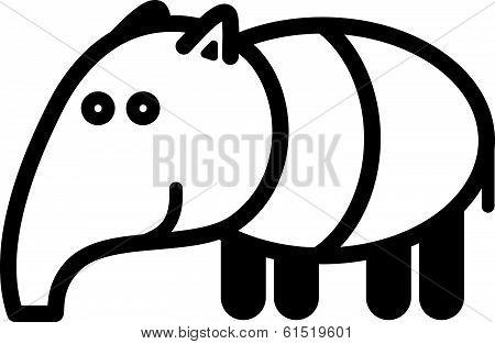 Cute animal tapir - illustration