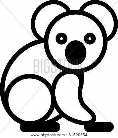 Cute animal loala - illustration