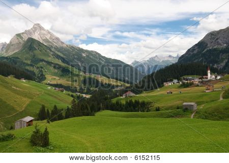 Idyllic Alpine Village In Austria