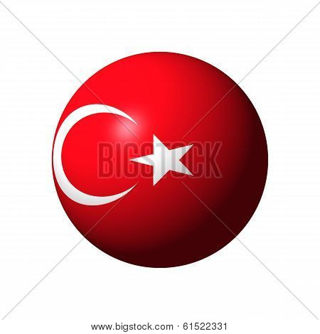 Sphere with flag of Turkey