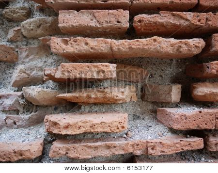 Ancient Brick Wall As A Texture