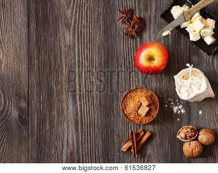 Ingredients for Apple Pie.
