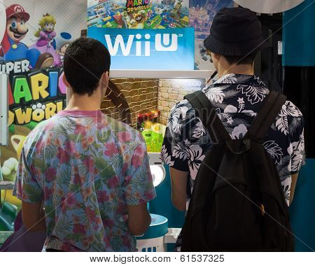 Nintendo Stand At Cartoomics 2014 In Milan, Italy