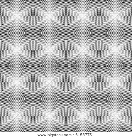 Design Seamless Uncolored Geometric Pattern. Abstract Diamond Lines Textured Background