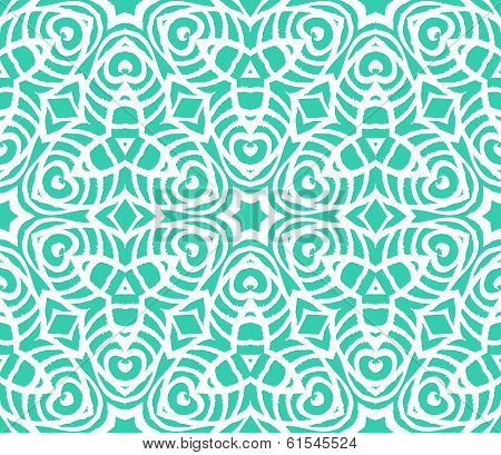 Lace art deco pattern with overlapping shapes