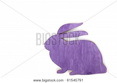 Purple rabbit silhouette