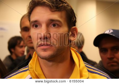 Ukraine striker Andriy Shevchenko