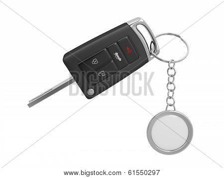Car Key With Keyring