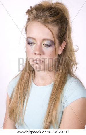 Expression Girl Sad With Make Up