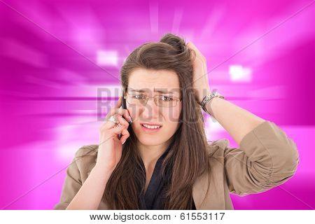 Woman Hearing Bad News Over Phone