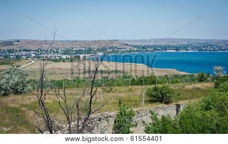 View of the bay Black Sea coast, Crimea