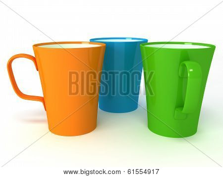 illustration of cups on white background