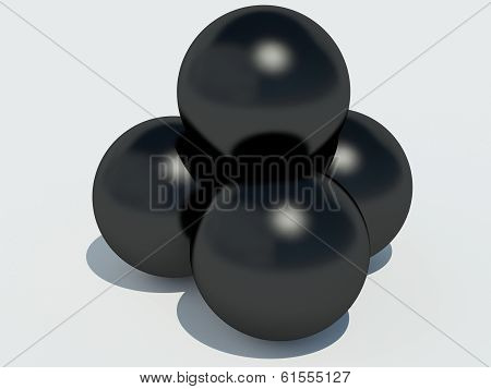 putting-stones on white background