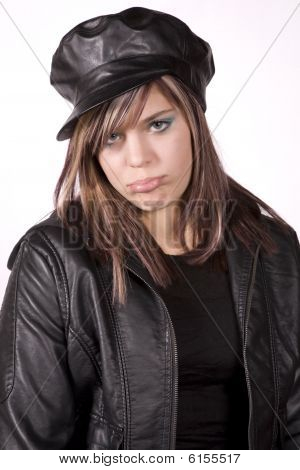 Expression Girl In Black Sad