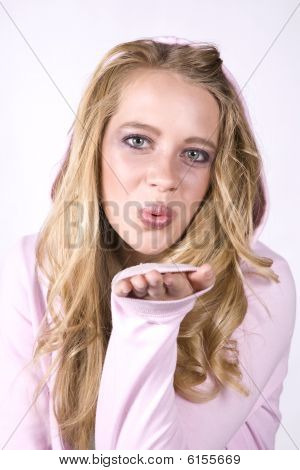 Expression Girl Blowing A Kiss