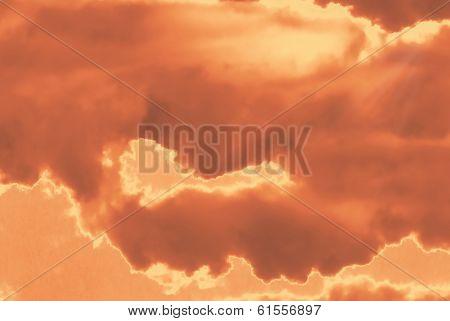 Red mystical sky