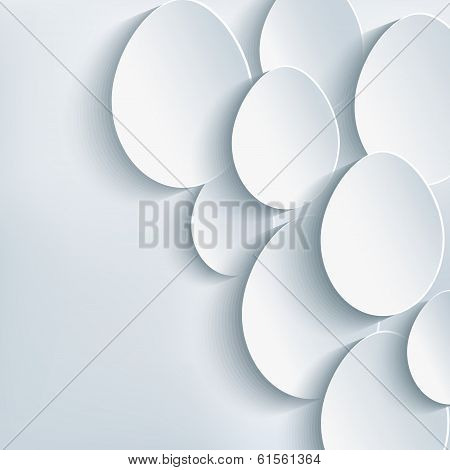 Stylish Abstract Background With Easter Egg