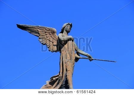 guardian angel on blue sky