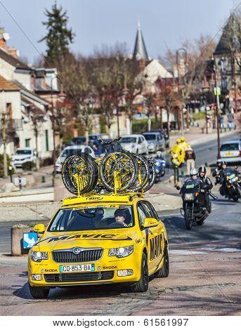 Mavic Yellow Car