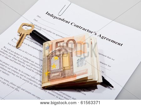 Construction agreement with key and Euro notes