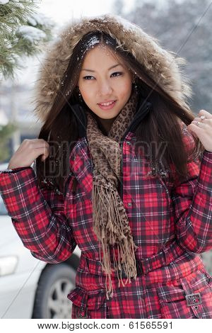 Snow Beauty. Portrait of a Girl