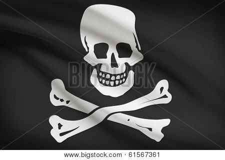 Series Of Ruffled Flags. Jolly Roger.