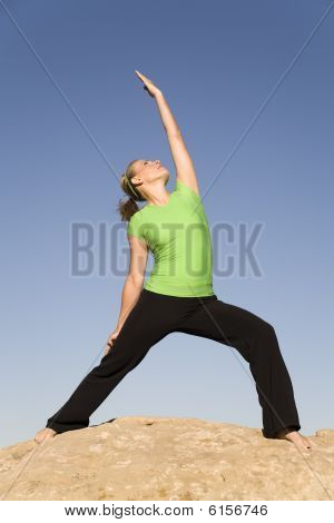 Yoga Woman One Arm Up