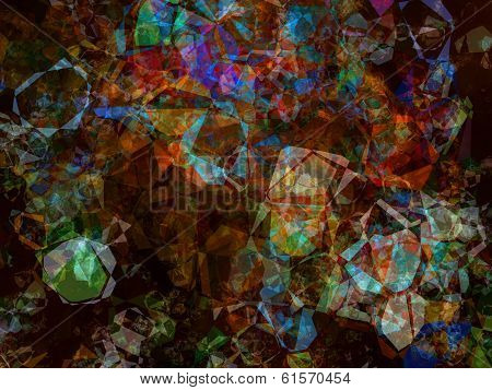 Multicolored Kaleidoscope Abstract Background.