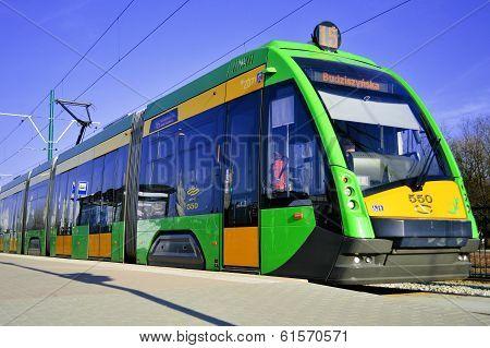 Streetcar Tramino In Poznan Poland